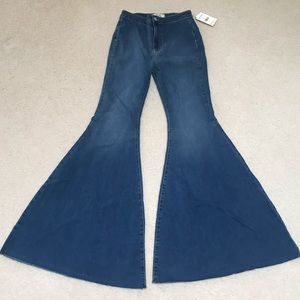 Free People Super Flare Jeans NWT